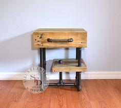 Reclaimed Wood Nightstand Pallet Nightstand by SibusFurniture