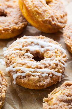 Coffee Cake Donuts with Vanilla Glaze FoodBlogs.com