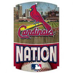 St. Louis Cardinals Nation 11x17 Wood Sign