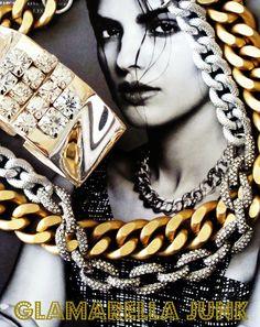 """Glamarella Junk Couture Jewels...Fall/Winter 2013 """"mixing the metals"""" Glamarellajunk.com"""