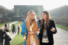 Lauren Santo Domingo and Bianca Brandolini d'Adda attend the Christian Dior Haute Couture Spring Summer 2017 show as part of Paris Fashion Week at...