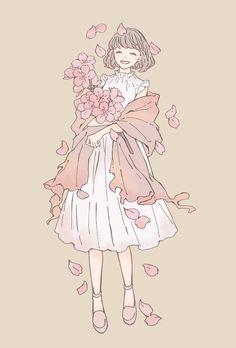 Cute Art Styles, Cartoon Art Styles, Kawaii Drawings, Cute Drawings, Kawaii Art, Character Drawing, Pretty Art, Anime Art Girl, Aesthetic Anime