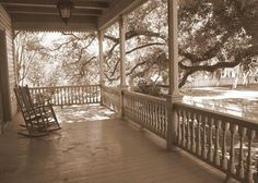 simple southern porch