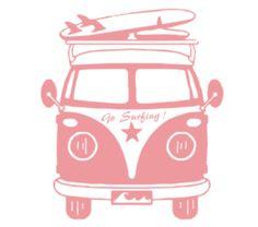 Go surfing! in a vw van Silhouette Cameo, Silhouette Portrait, Kombi Hippie, Combi Ww, Surfs Up, Illustration, Flocking, Clipart, Cool Photos