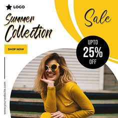 Summer collection post with wave background Social Media Marketing Courses, Social Media Ad, Social Media Banner, Social Media Template, Social Media Design, Social Media Graphics, Food Graphic Design, Ad Design, Modern Design