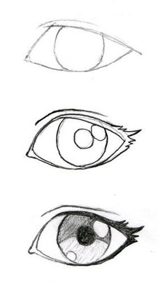 Some good eyelash info! JohnnyBro's How To Draw Manga: Drawing Manga Ey. Some good eyelash info! JohnnyBro's How To Draw Manga: Drawing Manga Eyes (Part I) - Drawing Techniques, Drawing Tips, Drawing Reference, Drawing Sketches, Easy Eye Drawing, Sketching, Drawing Drawing, Eye Sketch, Easy Sketches For Beginners