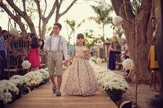 Entrada da dama e pajem - Casamento Ana Paula Rodrigues e Michel Castro