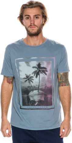 QUIKSILVER GARMENT DYED SS SKULL ISLAND TEE