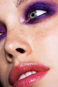 Smudgy, rich purple smoky eye. #makeup