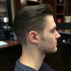 The military rockabilly haircut -- a pompadour variation with a bald fade on the sides and back.: The Classic Pompadour Haircut Mens Hairstyles Pompadour, Classic Mens Hairstyles, Pompadour Men, Hairstyles Haircuts, Haircuts For Men, Modern Pompadour, Classic Mens Haircut, Medium Haircuts, Trendy Hairstyles
