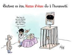 Noun-Art: Élections en Iran, Hassan Rohani élu à l'hunanimit...