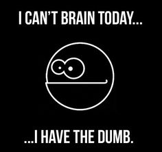 I can't brain today, I have the dumb. funny quote smart think brain lol dumb\ That is so totally me everyday, weeee. Haha Funny, Funny Stuff, Funny Things, Funny Shit, Random Stuff, Funny Man, Random Things, I Love To Laugh, How I Feel