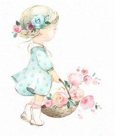 Painting For Kids, Art For Kids, Flower Art Drawing, The Art Sherpa, Flower Phone Wallpaper, Fabric Painting, Cute Cartoon, Cute Drawings, Cute Art