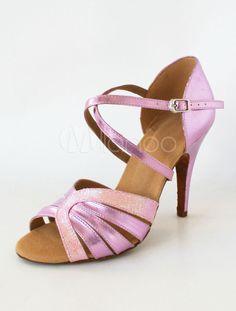 Peep brillant magnifique Toe talon aiguille Glitter paillettes Latin Shoes tissu  féminin - Milanoo.com