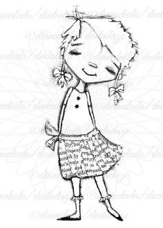 Be You 2 Versions Digital Stamp  Printable  Art от StudioDudaArt