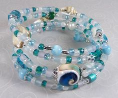 'Ocean Dreams Wrap Bracelet' is going up for auction at  5pm Fri, Oct 12 with a starting bid of $10.