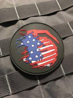 The American Grenade Frag PVC (hook/Loop) Military morale patriot Patch Pvc Patches, Funny Patches, Tactical Patches, Tactical Gear, Special Forces Gear, Drawing Wallpaper, Morale Patch, Usmc, Empire
