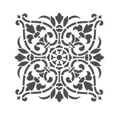 Damask Stencil DIY by JboutiqueStencils