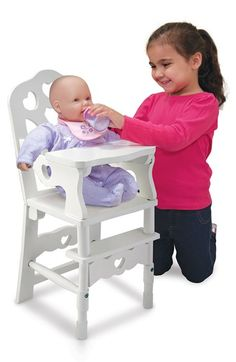 Melissa & Doug Wooden Doll High Chair available at #Nordstrom