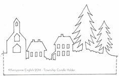 huisjes silhouet knippen uit papier kerst - Google zoeken