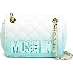 Moschino Quilted Crossbody Bag ($1,295) ❤ liked on Polyvore featuring bags, handbags, shoulder bags, green, quilted leather crossbody, green leather handbag, quilted leather shoulder bag, leather crossbody handbags and leather cross body purse