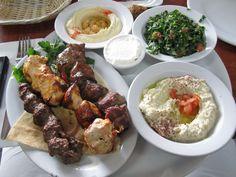 BBQ ,Hummos ,Tabouleh