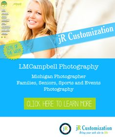 #SmugMug Site of the Week - LMCampbell Photography #Michigan #Seniors #Portraits #Sports #Events Photography.  Learn more at http://www.jrcustomization.com
