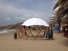 DOMO CHILLOUT PLAYA MURCIA | Domos Geodésicos - Geodesics Domes Garden Deco, Murcia, Yurt Home, Green Dome, Geodesic Dome, Landscape Architecture, Glamping, Tiny House, Gazebo