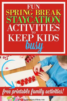Spending spring break at home? These fun staycation ideas for families will keep your kids busy & allow moms to keep their sanity. This mom of 8 shares simple, fun activities for a staycation on a budget this spring break! #staycation #springbreak #familyfun #budgetfriendly via @www.pinterest.com/JenRoskamp