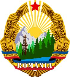 Coats of Arms of Communist States - Coat of arms of the Socialist Republic of Romania Propaganda Art, Alternate History, Communism, Coat Of Arms, Soviet Union, Herb, Childhood Memories, Patches, Flag