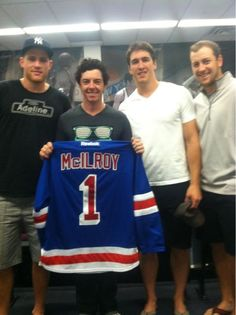 Rory McIlroy looks a little too small to play hockey. Just right for golf though.