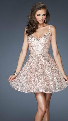 Sequin Prom Dress 2014 Ball Gown Spaghetti Straps by 7thprincess, $97.00