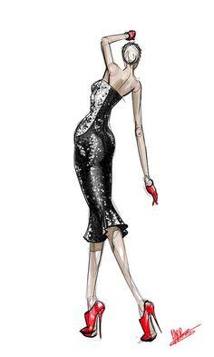 fashion design - sequin dress