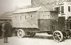 Camion protegido Hispano Suiza, modelo unico terminado en la fabrica Trubia en 1922