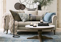 The power of texture! Pottery Barn is excited to debut it's new Chateau look this season. It's all about beautiful, comfortable and casual living grounded in tactile textiles. #mypotterybarn #texture #linen #velvet #fringe #interiordesign