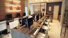 O local de trabalho precisa ser um espaço onde todas as atividades sejam realizadas da forma correta, para isso, é preciso ter um espaço para cada coisa, como mesa, computadores, arquivos, como é o caso do escritório.