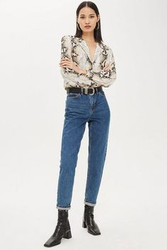 0814ca02ecaf Bleach Mom Jeans - Mom Jeans - Jeans - Topshop Europe Mom Jeans Style, Blue