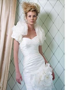Ian Stuart - Sweetheart Cocktail Length Gown in Organza