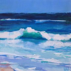 """Daily Paintworks - """" Daily Painting Waves"""" - Original Fine Art for Sale - © Whitney Heavey Daily Painters, Sky Landscape, Sea Art, Seascape Paintings, Art For Sale, Art Projects, Abstract Art, Original Art, Waves"""