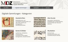 Digital collections including music and manuscripts. Münchener Digitalisierungszentrum Digitale Bibliothek