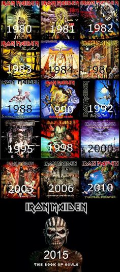 IRON MAIDEN ALBUMS More