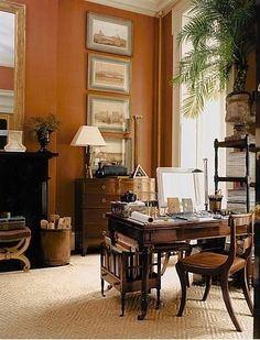 Another lovely home office in a formerly-unused formal living room!