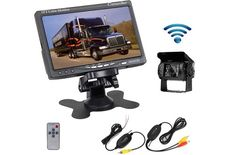 Wired Backup Camera System Kit 5 inch Monitor HD LCD Reversing Monitor for Car//RV//Truck//Pickup//Van//Camper Accfly IP68 Waterproof Rear View Night Vision Rear View Camera