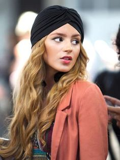 Add a turban to second dry hair. Drama.