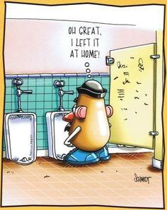 Mr Potato Head in the Bathroom