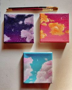Small Canvas Paintings, Easy Canvas Art, Small Canvas Art, Mini Canvas Art, Cute Paintings, Simple Acrylic Paintings, Diy Canvas, Canvas Painting Tutorials, Aesthetic Art