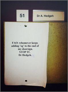 dr. hedgeh[og]