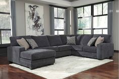 72600S1 in by Ashley Furniture in Maumee, OH - Tracling - Slate 3 Piece Sectional