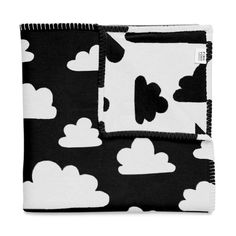 I need this - Blanket . Baby - Clouds Black