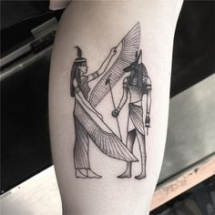 Anubis tattoo ideas that change your perception of death - Tattoo Ideen - Hermes Tattoo, Tattoo Tod, Death Tattoo, Tattoo Bein, Snake Tattoo, Anubis Tattoo, Bastet Tattoo, Nefertiti Tattoo, Hamsa Tattoo